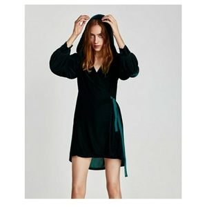 Large zara dress velvet hood